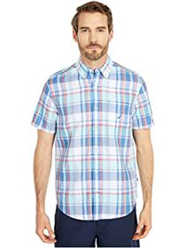 Nautica Short Sleeve Linen Plaid