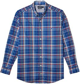 Nautica Big & Tall Big & Tall Navtech Plaid Woven