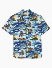 Lucky Brand San Gabriel Printed 1 Pocket Shirt