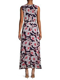Karl Lagerfeld Floral Chiffon Sleeveless Dress
