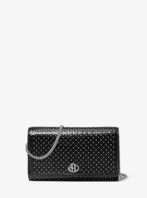 Michael Kors Monogramme Studded Leather Chain Wall