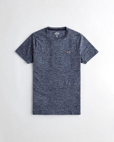Hollister Must-Have Muscle T-Shirt, HEATHER NAVY
