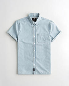 Hollister Denim Slim Fit Shirt, CHAMBRAY