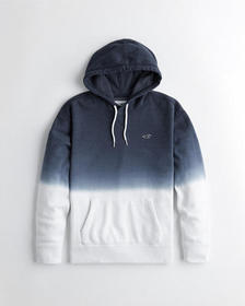 Hollister Dip-Dye Icon Hoodie, NAVY TO WHITE OMBRE