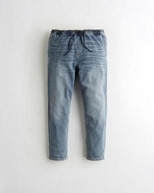 Hollister Just Like Knit Pull-On Crop Taper Jeans,