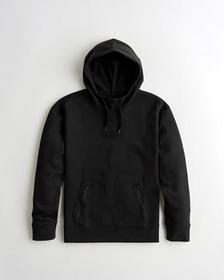 Hollister Active Box Logo Hoodie, BLACK