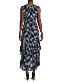 Karl Lagerfeld Chiffon Polka Dot Dress