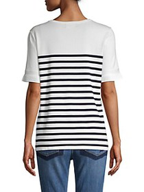 Karl Lagerfeld Striped Button Sweater