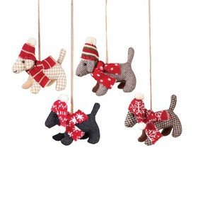 Gallerie II Dogs in Plaid Christmas Xmas Ornament