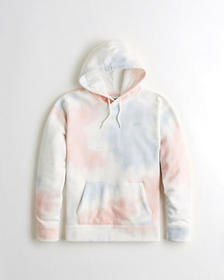 Hollister Tie-Dye Icon Hoodie, PINK AND BLUE TIE-D