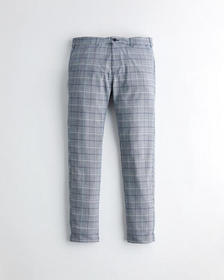 Hollister Skinny Chino Pants, NAVY PLAID