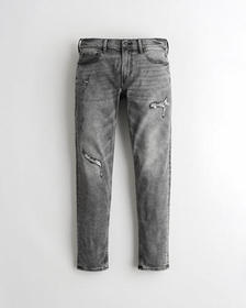 Hollister Skinny Jeans, RIPPED AND REPAIRED GREY W