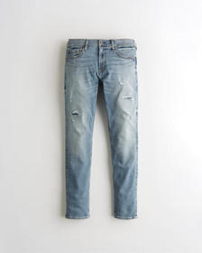Hollister Skinny Jeans, RIPPED AND REPAIRED LIGHT