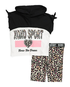 XOXO Big Girls 2pc Animal Print Bike Short Set