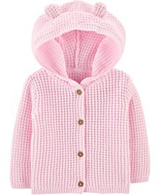 Baby Girls Hooded Cotton Cardigan Sweater