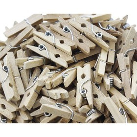 """200-Count Juvale Mini Wooden Clothes Pins, Tiny 1"""""""