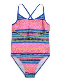 Tommy Bahama Printed One-Piece Swimsuit with Ruffl