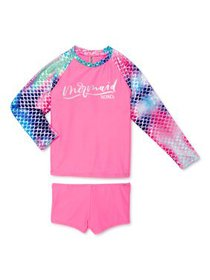 XOXO Girls Mermaid Long Sleeve Rashguard Swim Shir