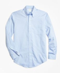 Brooks Brothers Non-Iron Milano Fit Mini-Gingham S