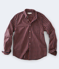 Aeropostale Long Sleeve Gingham Button-Down Shirt
