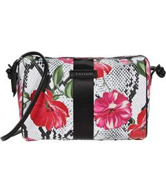Tahari Floral Snake Barrel Crossbody