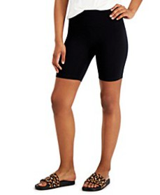 INC Women's Solid Bike Shorts, Created for Macy's