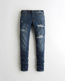 Hollister Stacked Skinny Jeans, RIPPED AND REPAIRE