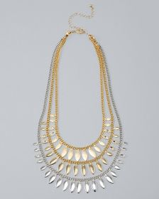 Convertible Mixed-Metal Leaf Station Necklace