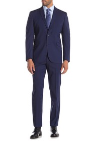 Kenneth Cole Reaction Blue Check Techni-Cole Slim