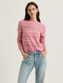 Lucky Brand Maya Stripe Classic Pullover Sweater