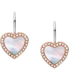 Fossil Hearts To You Mother-of-Pearl Stainless Ste