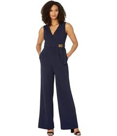 Calvin Klein Surplus Neck Jumpsuit with Side Buckl