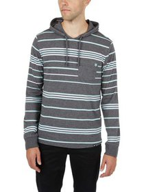 Zoo York Men's Long Sleeve Hooded Stripe Knit- Emb