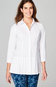 Christian Siriano For J.Jill Pleated-Border Shirt