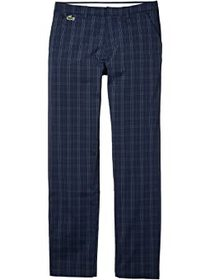 Lacoste Gabardine Plaid Pants