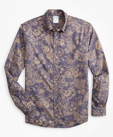 Brooks Brothers Milano Slim-Fit Sport Shirt, Outli