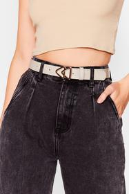 Nasty Gal Stone This Way Triangle Buckle Belt