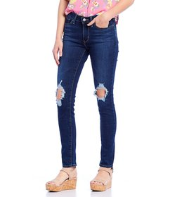 Levi's® 711 Destructed Mid Rise Skinny Jeans