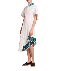 Loewe Embroidered Short-Sleeve Shirt Dress