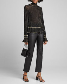 Peter Pilotto Shimmered High-Neck Sweater