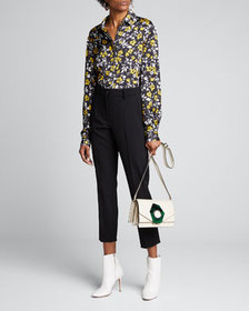 Racil Floral-Print Knotted Shirt