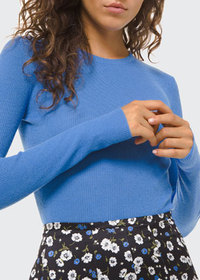 Michael Kors Collection Cashmere Ribbed-Knit Sweat