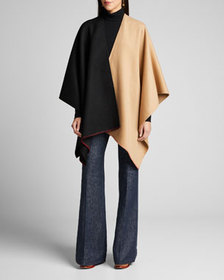 Gabriela Hearst Francis Cashmere Two-Tone Stitched