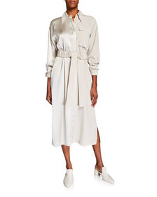 Co Belted Shirtdress