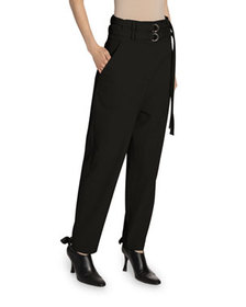 Proenza Schouler High-Rise Wool Belted Pants