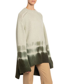 Boon The Shop Tie-Dye High-Low Chunky Cashmere Swe