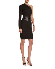 TOM FORD One-Shoulder Bodycon Dress with Removable