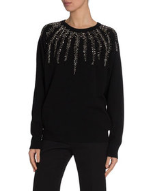 Givenchy Willow Crystal Embroidered Sweater