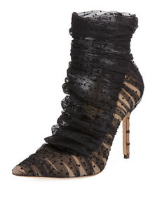 Jimmy Choo LAVISH 100 ROUCHED TULLE BOO