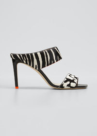 Jimmy Choo Hira Two-Band Fur Sandals
